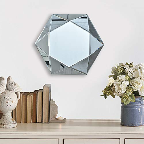 Buy Commoda Decorative Accent Wall Mounted Mirror Star Shape With Wood Backing For Living Room Bedroom Or Vanity Bathroom Hangs Horizontal Vertical Dia 24 Online In Mauritius B07vmcc7f4