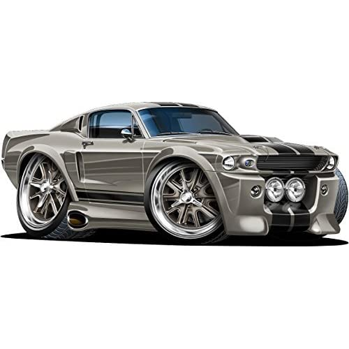 Buy 12 Shelby Mustang Gt 500 Eleanor Wall Decal Ford Movable Cartoon Car 3d Sticker Mural Kids Children Mens Wall Art Online In Mauritius B071v6jy8k