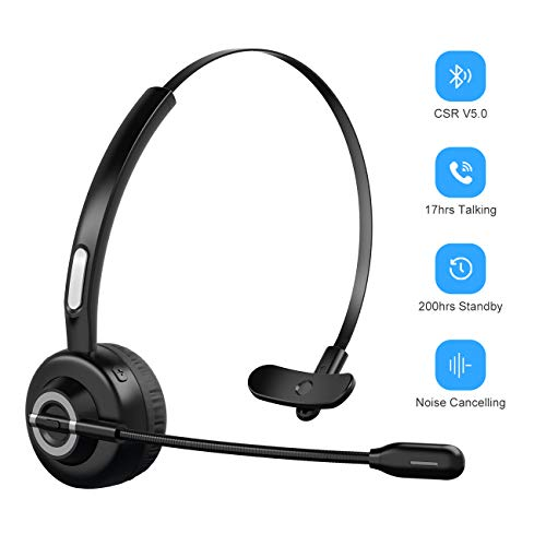 Bluetooth Headphones With Microphone Wireless Bluetooth Headset On Ear Noise Canceling Pc Headset With Mute Key Clear Sound For Cell Phones Tablet Home Office Skype Truck Drive Call Center Buy Products