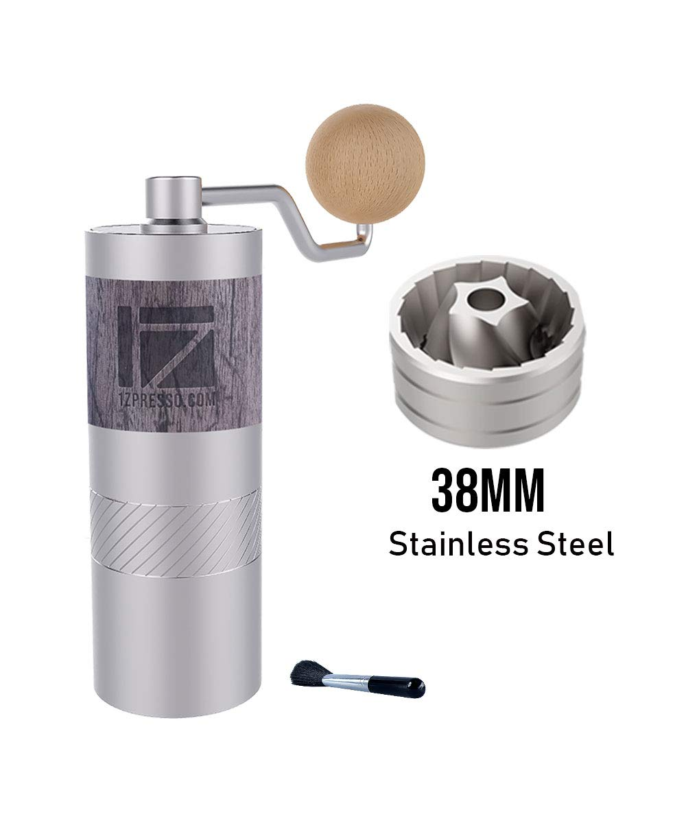 1zpresso Q2 Manual Coffee Grinder Mini Slim Travel Sized Fits In The Plunger Of Aeropress Assembly Stainless Steel Conical Burr Numerical Internal Adjustable Setting Coarse For Filter Capacity 20g Buy Products