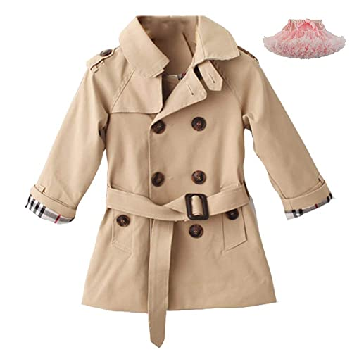 COTTON FAIRY Kids Toddler Boy Autumn Trench Coat Sports Hoodie Windproof Jacket