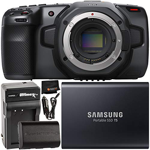 Blackmagic Design Pocket Cinema Camera 6k Ef Mount With Samsung 1tb T5 Portable Solid State Drive Extended Life Lp E6 Spare Battery 2700mah 20 0wh Home Travel Battery Charger Cleaning Cloth Buy Products Online With