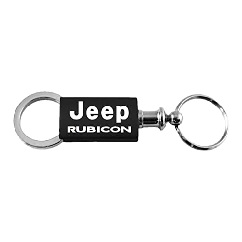 Jeep Genuine Rubicon Pink Logo Metal Chrome Tear Drop Key Chain Ring Fob
