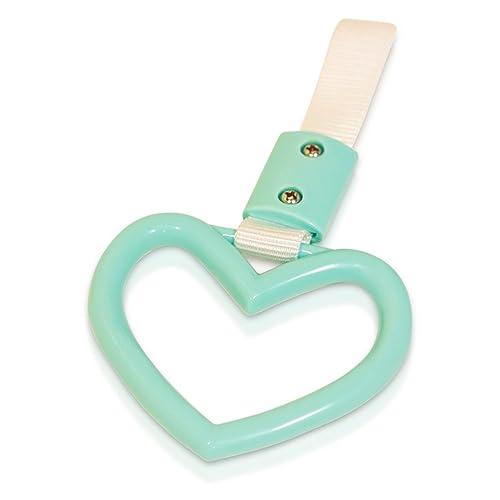 Heart: Teal Tsurikawa Handle Japanese Subway Ring Train Bus Handle Hand Strap Drift Charm JDM Bosozoku
