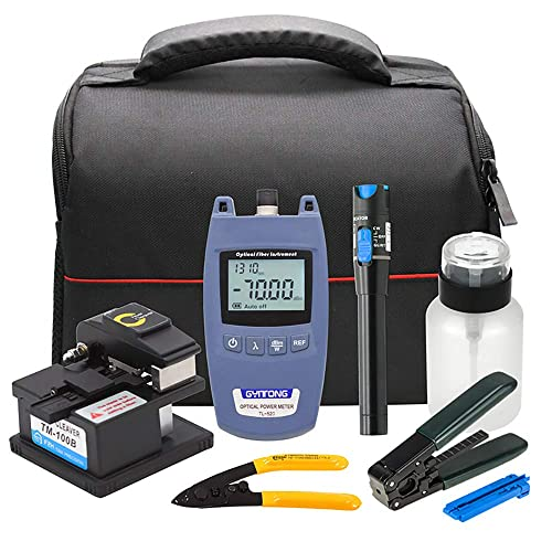Buy Fiber Optic Cold Connection Tools FTTH Tool Kit with Optical Power  Meter 10mW Visual Fault Locator Fiber Cleaver Fiber Optic Stripper Online  in Mauritius. B087TKRMBH
