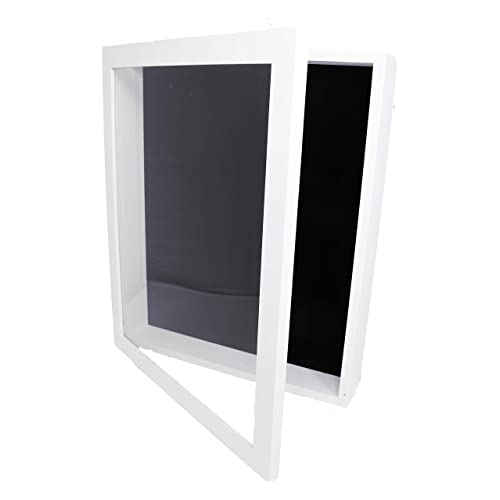 Buy Forever Frames 12x15x2 Shadow Box Display Case Magnetically Opens And Closes Like A Door Real Wood Strong Glass Linen Background White For Wall And Desktop Protect