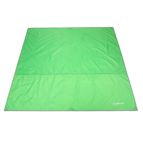 Azarxis Ultralight Mini Pocket Blanket Mat Ground Cloth Rain Fly Tarp Footprint Shelter Sunshade Sand Free Waterproof Compact Portable for Travel Picnic Camping Hiking
