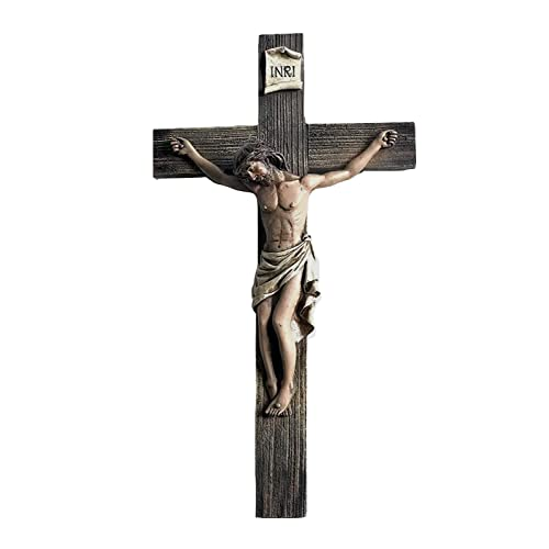 Buy Polly House 14 Inch Jesus Nailed On The Cross Resin Stone Wall Cross Crucifix Online In Mauritius B07j2vdppl