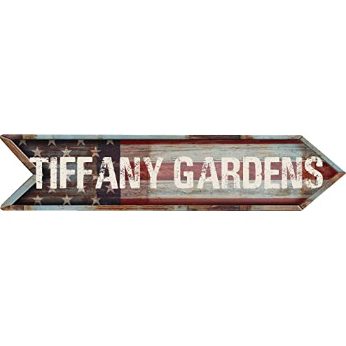 Any And All Graphics Tiffany Gardens City 4 X18 Patriotic American Flag Arrow Shaped Rustic Antique Vintage Look Composite Aluminum Novelty Décor Sign Buy Products Online With Ubuy Mauritius In Affordable Prices
