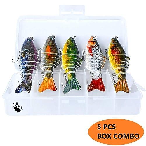 Spinbait Bass Fishing Lures Hard Swimbaits Pro Fish Baits Tackle 3Pcs Set 10cm 7 Segments Multi Jointed Slow Sink Crankbait Glide Bait Bass Swim Bait