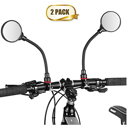 Wide Angle Rear View Mirrors Glasses for Mountain Road Bike Cycling Safe 360/°Adjustable Handlebar and Rotatable Acrylic Convex Mirror 1 PCS WESTGIRL Bike Mirror