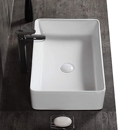Buy Aweson 23 Inch X 15 Inch Rectangular Vessel Sink Ceramic Bathroom Sink Rectangular Above Counter Porcelain Vessel Sink 23 Rectangular Online In Mauritius B079kt853n