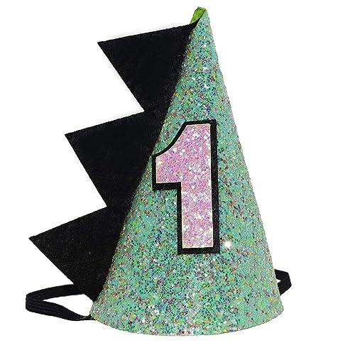 Maticr Baby Boy 1st Birthday Cone Hat Headband Cake Smash First Birthday Party Supplies
