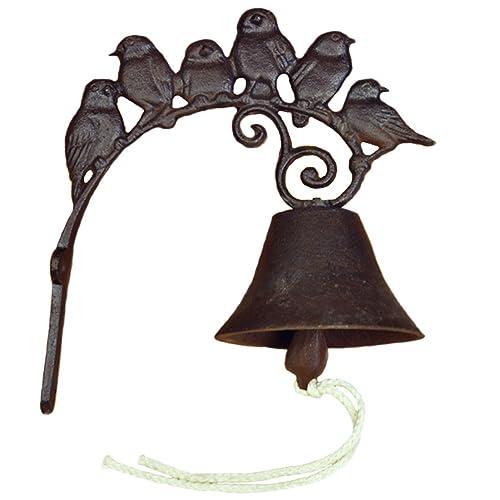 Buy Pertty Cast Iron Door Bell Vintage Bird Door Chime Hanging Wall Mounted Front Decorative Doorbell For Farmhouse Garden And Front Yard Dark Brown Online In Mauritius B07dxrnrcz