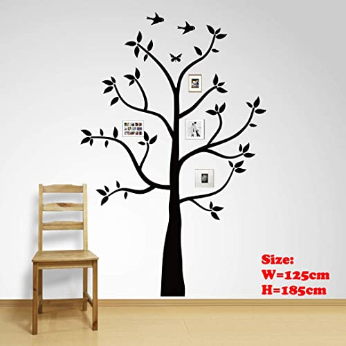 Buy Family Tree Wall Decals Wall Sticker Removable Vinyl Mural Art Wall Stickers Kids Room Nursery Bedroom Living Room Decoration 185cmtall 185x125cm Online In Mauritius B07j43wg72