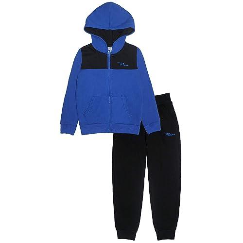PHIBEE Boys 2 Pieces Fleece Zip Up Hoodie Jog Pant Set