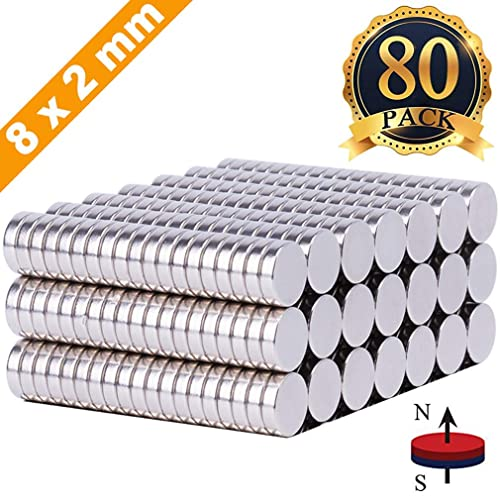 Dry Erase Board Magnetic pins Whiteboard Magnets,Refrigerator Magnets FINDMAG 80Pcs 8X2mm Magnets Push Pins,Fridge office Magnets