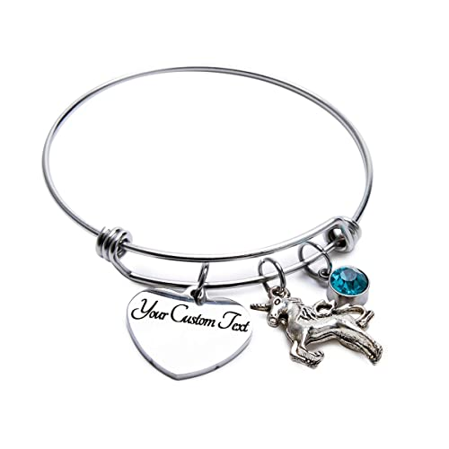 Child/'s Expandable Bangle Personalized Heart Best friend Fairy Birthstone Gift