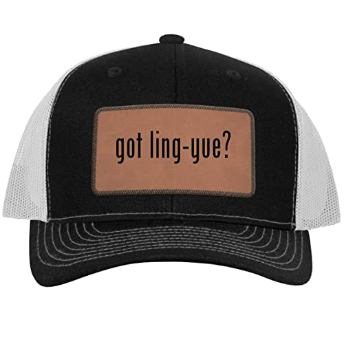 Leather Light Brown Patch Engraved Trucker Hat One Legging it Around got Educt?