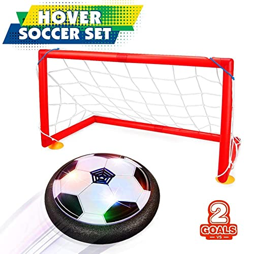 Buy Hahagift Birthday Present For 3 12 Year Old Boy Indoor Kids Soccer Hover Ball Set 2 Goals Toys For 3 4 5 6 Year Old Boys Gifts For 7 8 9 Year Boys Black Online In Mauritius B07nvdg5n6