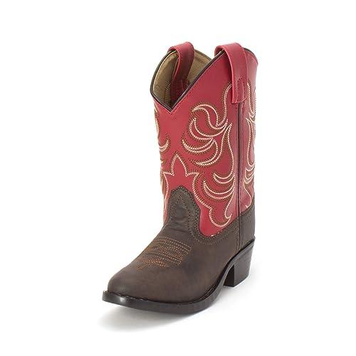Smoky Mountain Boys Snake Print Cowboy Boot Round Toe /…