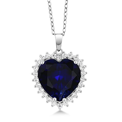 Buy Gem Stone King 925 Sterling Silver Heart Shape Pendant Necklace For  Women (1/2 Inch with Complimentary 18 Inch Silver Chain) Online in  Mauritius. B072BQWKB3