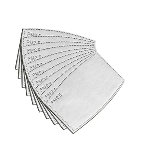 Non-Woven Cloth with 5 Layers Replaceable Protective Parts Filters P-M 2.5 for Women Men Kids 20pcs Activated Filiters