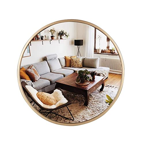 Buy Geloo Large Round Wall Mirror 27 6 Gold Modern Brushed Metal Frame Circle Wall Mounted Decorative Mirror For Wall Decor Bedroom Vanity Bathroom Living Room Kitchen Entryway Online In Mauritius B083b7r45j