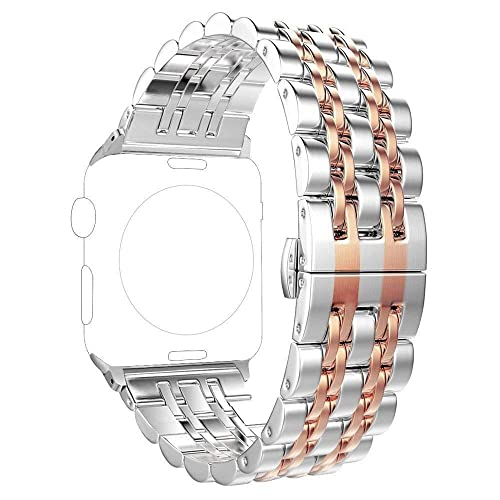 Pugo Top Replacement For Apple Watch Band 40mm Series 5 4 Stainless Steel Metal 38mm Sereis 3 2 1 Iwatch Iphone Watch Band For Women Men 3840mm Rose Gold Buy Products