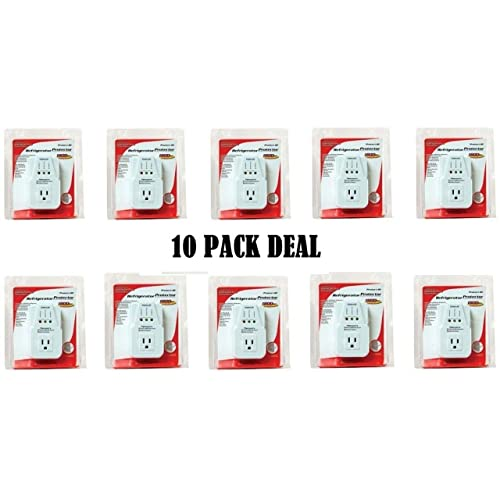 New Model 10-Pack Refrigerator Voltage Appliance Surge Protector 1800 Watts