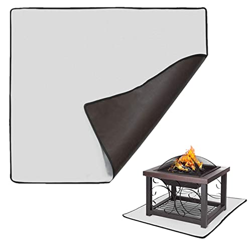 Buy Kofair Square Fire Pit Mat 36 X 36 Inch Patio Fire Pit Pad Fireproof Mat Deck Protector For Outdoor Wood Burning Fire Pit Bbq Smoker Fire Resistant Grill Mat For Grass