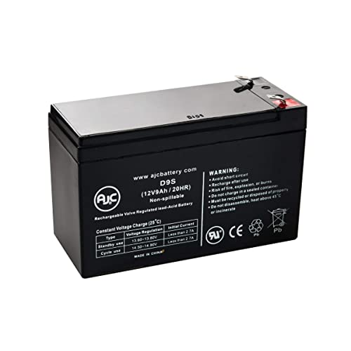 This is an AJC Brand Replacement Ritar RT1290H-F2 12V 9Ah Sealed Lead Acid Battery