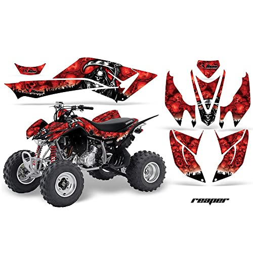 Wholesale Decals ATV Graphic Kit Sticker Decals Compatible with Honda TRX400EX 1999-2007 Flames Yellow