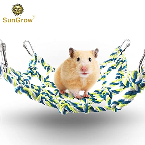Buy Sungrow Rope Net For Small Pets Hanging Hammock For Cage Activity Climbing Toy Mental Physical Stimulation Net Pet Bed For Hamsters Cockatiels Parakeets Online In Mauritius B082k9nnjz