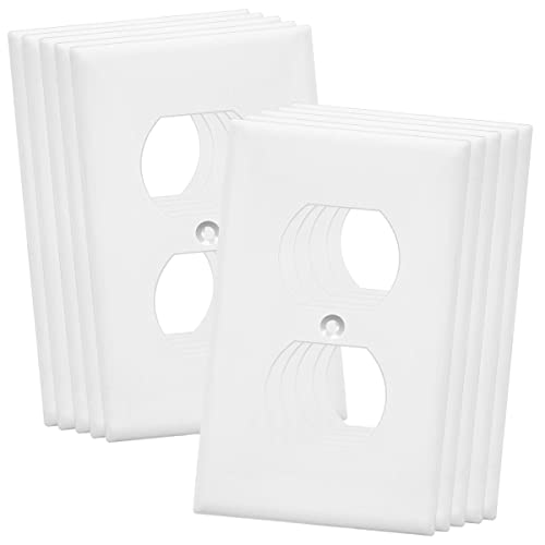 Buy Enerlites Duplex Receptacle Outlet Wall Plate Over Size 1 Gang 5 5 X 3 5 Polycarbonate Thermoplastic 8821o W 10pcs White 10 Pack 10 Online In Mauritius B074565lhw