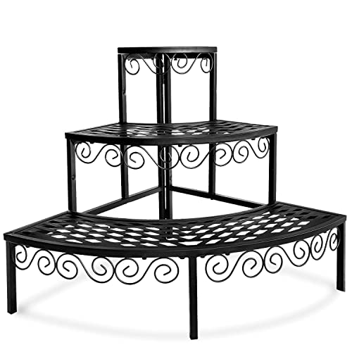 Foyuee Corner Plant Stand Outdoor Metal 3 Tier Stands For Multiple Plants Ladder Potted Indoor Shelf Holder Rack Buy Products Online With Ubuy Mauritius In Affordable Prices B07v3kszkl