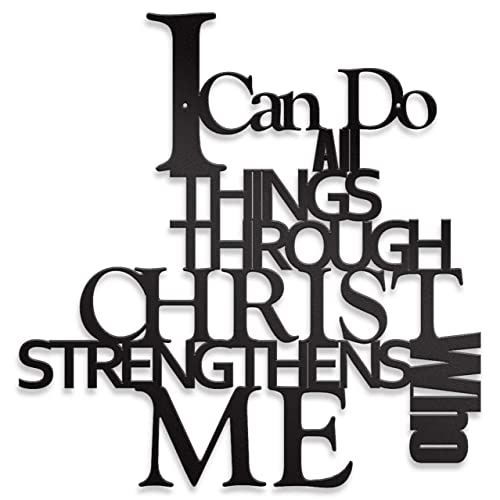 Buy I Can Do All Things Steel Roots Decor Christian Quotes Metal Wall Art Christian Wall Art Scripture Quotes All Things Possible Indoor And Outdoor Use