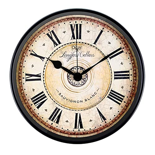 Buy Justup Wall Clock 12 Inch Metal Black Wall Clock European Style Retro Vintage Clock Non Ticking Whisper Quiet Battery Operated With Hd Glass Easy To Read For Indoor Decor Black