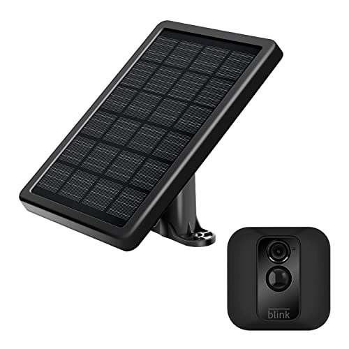 SmartRewin High Efficiency Monocrystalline Blink XT,XT2 Solar Panel Compatible with Blink Camera ONLY Free from Changing Battery with Adjustable Mount /& 12Ft Weatherproof Cable