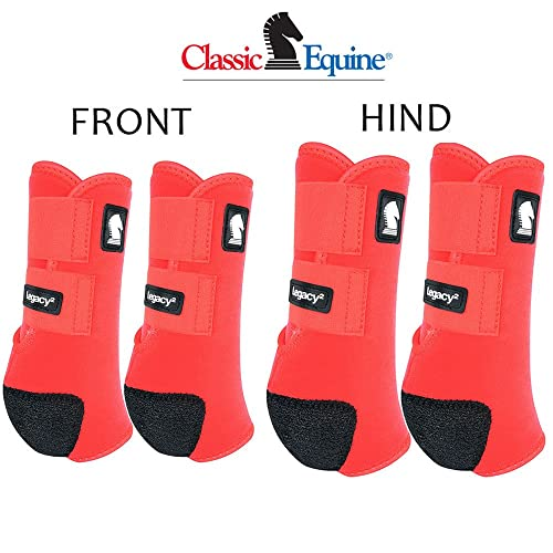 Professional Equine 600D 4-Pack Large Horse Travel Protection Boots 4107TR