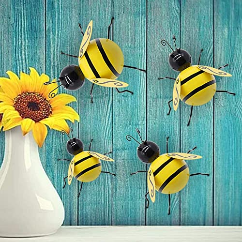 Buy Juegoal Metal Wall Art Bee 3d Sculpture Inspirational Wall Decor Hanging For Indoor And Outdoor 4 Pack Online In Mauritius B07pqbq4gq