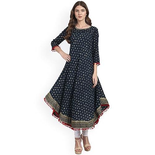 DREAMANGEL FASHION Womens Mirror Work Salwar Suit with Dupatta Indian OcassionalWear