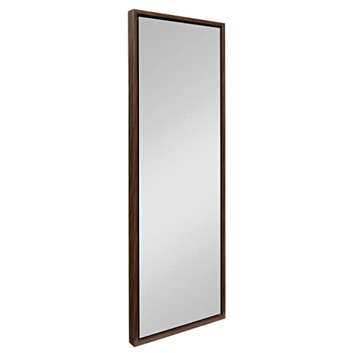 Buy Kate And Laurel Evans Framed Wall Panel Mirror 16x48 Walnut Brown Online In Mauritius B083p4ywh2