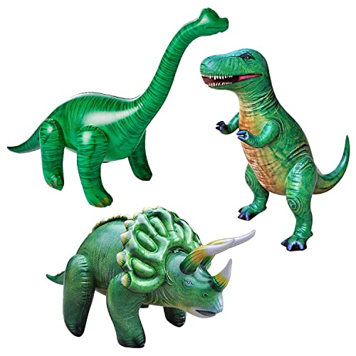 Green Inflatable Triceratops Dinosaur Kids Party Decor Play Toy Bed Room Plastic