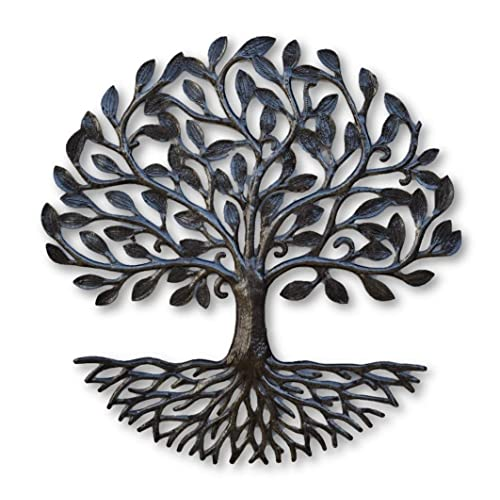Buy Small Metal Tree Of Life With Roots 17 25 In Round Rustic Farmhouse Decor Nature Inspired Handmade In Haiti Fair Trade Federation Certified Online In Mauritius B07mh6cbqw