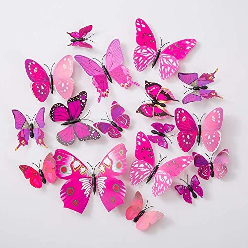 Buy 36pcs Butterfly Wall Decals 3d Butterflies Decor For Wall Sticker Removable Mural Stickers Home Decoration Kids Room Bedroom Decor Purple Online In Mauritius B07wd2z2f9