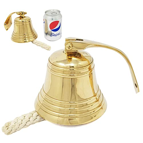 Buy Brass Nautical 4 Inches Brass Ship Bell Polished Nautical Hanging With Wall Mount Large Decor Outdoor Replica Bell Online In Mauritius B07mw349qx
