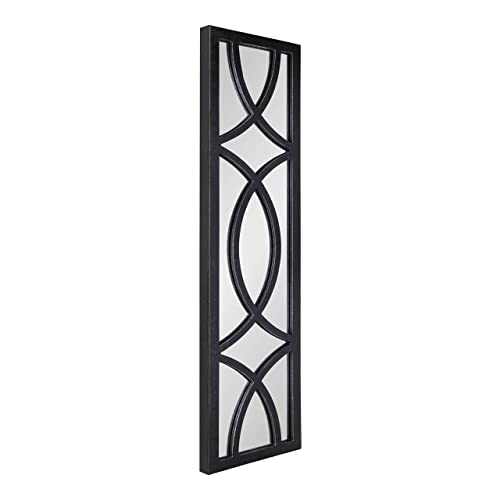 Buy Kate And Laurel Tolland Decorative Wooden Panel Wall Mirror 12 X 48 Black Rustic Windowpane Accent Online In Mauritius B087d5fz7w