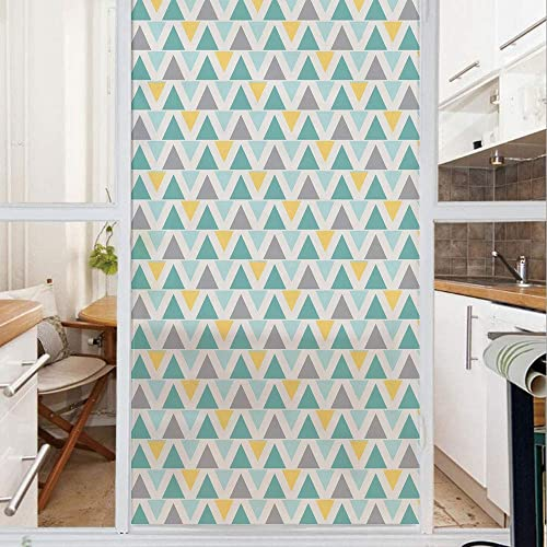 Buy Decorative Window Film No Glue Frosted Privacy Film Stained Glass Door Film Chevron Lines With Triangle Pattern Zigzag Retro Inspirations Abstract Decorative For Home Office 23 6in By 59in Seafoam Online In Mauritius B07ztzb2pk