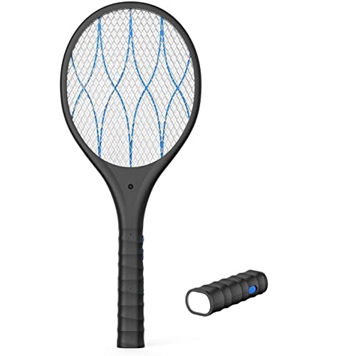 Mosquito Repellent Killer USB Rechargeable for Home and Outdoor Bug Zapper Electric Fly Swatter Racket Safe to Touch with 3-Layer Safety Mesh